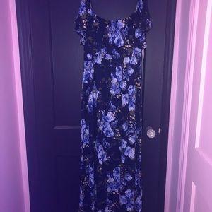 Off Shoulder Floral Maxi Dress